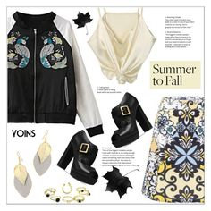 """""""Summer to Fall Layering"""" by meyli-meyli ❤ liked on Polyvore featuring Michael Kors, layers, yoins, yoinscollection and loveyoins"""