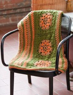 Bernat Earthbound Throw, Crochet Pattern | Yarnspirations