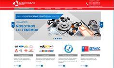 Diseño de sitio web para Desarmadurianacional.cl. Desarmaduría.