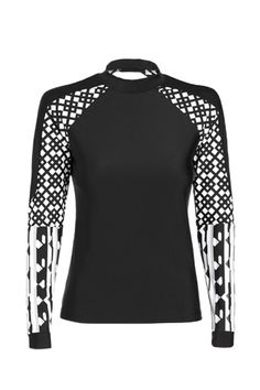 The Entire Peter Pilotto For Target Lookbook Is Out! #refinery29 Rash Guard in Black/White Print, $29.99.