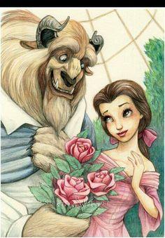 Beauty and the beast 💚 walt disney, belle disney, disney dream, disney magic Disney Belle, Disney Dream, Cute Disney, Disney Magic, Disney Fan Art, Disney Pixar, Walt Disney, Disney Villains, Disney Collage