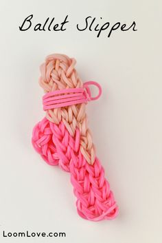 RAINBOW LOOM - CHARMS - Ballet Slipper Charm on Your Rainbow Loom