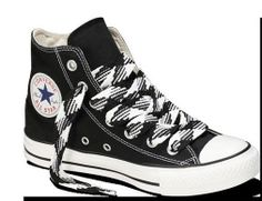 "Converse Fat Laces 54"" Black White 3/4"" Thick for Shoes"