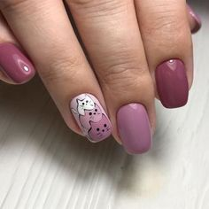 30 ideas which nail polish to choose - My Nails Cat Nail Art, Animal Nail Art, Cat Nails, Coffin Nails, Nail Swag, Cat Nail Designs, Nails Design, Easter Nail Art, Nagel Gel