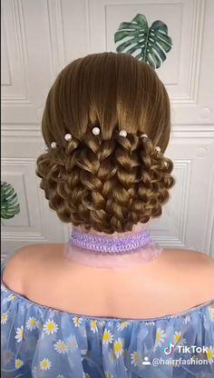 Easy Hairstyles For Long Hair, Up Hairstyles, Wedding Hairstyles, Kids Hairstyle, Halloween Hairstyles, Long Hair Buns, Bun Hair, Braids For Long Hair, Elegant Hairstyles