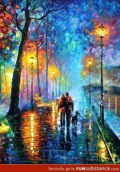 Amazing oil painting by artist Leonid Afremov