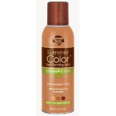 The BEST sunless tanner I've tried, and I've tried A LOT.  No splotches, no orange knuckles, knees, or toes, and no yucky smell.  #BananaBoat #SunlessTanner