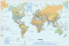 Classic World Map, 1 of the of wallpaper wall murals at Magic Murals. Premium wall murals, superior service and amazing value. World Map Wallpaper, Wall Wallpaper, Wall Stickers, Wall Decals, Village Photos, Removable Wall Murals, World Map Decal, Wall Maps, Cartography