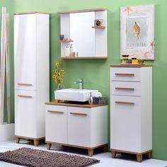 Realizată în linii clare și moderne, oglinda South completează baia cu funcționalitate. #mobexpert #sanitare #mobilierbaie #reduceri Double Vanity, Led, Bathroom, Kitchen, Design, Home Decor, Washroom, Cooking, Decoration Home