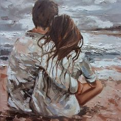 Image Couple, Romantic Paintings, Romantic Drawing, Romance Art, Art Of Love, Paintings For Sale, Paintings Of Couples, Original Paintings, Aesthetic Art