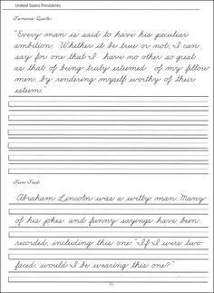Worksheets Zaner Bloser Cursive Worksheets presidents worksheets 44 united states character writing zaner bloser advanced cursive details