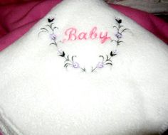 Fleece Baby Blanket  Embroidered Hot Pink Baby and Floral Vine | KallieJosCottonPatch - Children's on ArtFire @Kallie's Cotton