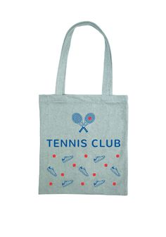 cbbb3f8411 Roger Tote Bag Blue Denim Tennis Club Design by Marlone Montreal Pochettes,  Sacs, Design