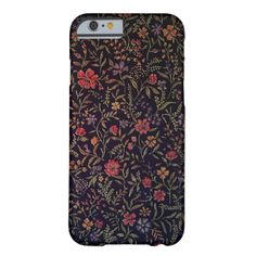 This case features a vintage floral pattern with art deco style. Choose text by clicking on the it! button, Edit, add text #elegant #vintage #floral #art #deco #pattern #black #pink #plant #vegetal #organic #red #green