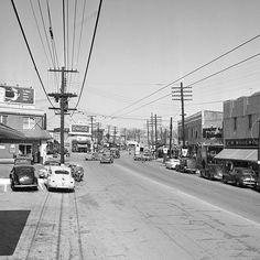 1949 view of Buckhead at the Peachtree Roswell split.  #atlanta
