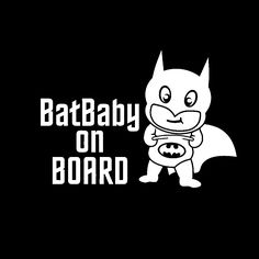 """Quick, to the batcave! Show off your nerd side while also announcing you have a special passenger on board the batmobile with this fantastic """"Bat Baby on Board"""" vinyl car decal. Decal measures: 5-1/2""""w x 3-3/4""""h (14cm x 9.5cm) The perfect size for your back window, without being obtrusive..."""