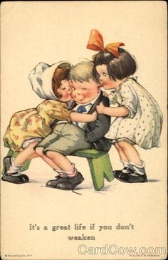 Charles Twelvetrees (1888-1948) was a cartoon and greeting card illustrator known for his images of chubby children  and animals...