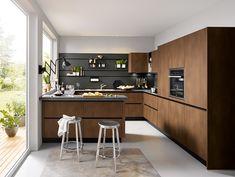 Modern-Kitchen-Design-Ideas by Schuller German Kitchens - Steel Bronze Effect  #germankitchens #kitchendesign #schullerkitchens