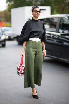 olive green + black
