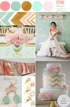 Mint, Blush Oink and Gold @Maddie Heins