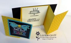 Big Day Fun-Fold Birthday Card with Video from Flowerbug's Inkspot