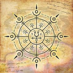 "Sigils & Symbols:  ""Protect #Magic #Circle - Type 8,"" by Dazuma, at deviantART."