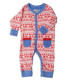 Look at this Rockin' Baby Red Fair Isle Playin' Playsuit - Infant on #zulily today!