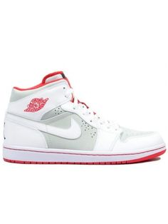 bc4e8164324 Famous 374454 011 Air Jordan 1 retro hare light silver white true red US   69.99   LederLook.com