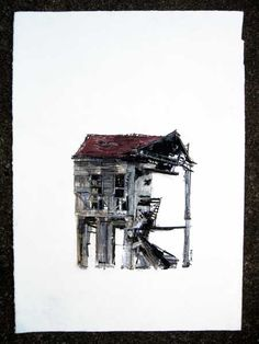 Ferrets are a girl's best friend. Derelict Buildings, How To Make Drawing, A Level Art, Collage Artists, Art Themes, French Artists, Abandoned Places, Girls Best Friend, Architecture Art