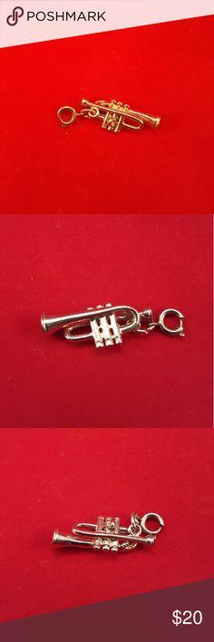 Vintage Trumpet Charm 1960s Jazz 1960s Vintage Trumpet Charm Jewelry Bracelets