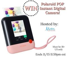 Polaroid POP Instant Digital Camera Giveaway - One lucky reader will win a their own. Open to the US only and ends Good luck! Instant Digital Camera, Best Digital Camera, Homemade Wedding Favors, Unique Wedding Favors, Polaroid Camera Instax, Film Polaroid, Digital Camera For Beginners, Take Video, Vintage Cameras