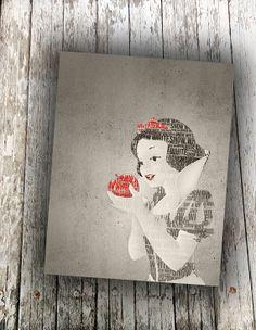 Disney princess Snow White art print wall art by RedFeatherPrints, $5.00