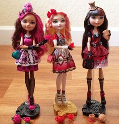 Ever After High Hat-Tastic Tea Party™ Briar Beauty™, Apple White™ and Cerise Hood™. Ever After High, Girl Dolls, Barbie Dolls, Rosabella Beauty, Ever After Dolls, High Hat, Cool Pops, Chloe, Monster High Dolls