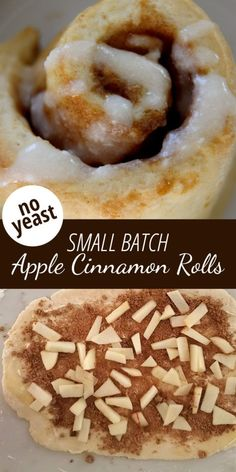 Cinnamon Rolls Without Yeast, Biscuit Cinnamon Rolls, Cinammon Rolls, Apple Cinnamon Rolls, Cinnamon Bread, Cinnamon Apples, Apple Desserts, Apple Recipes, Baking Recipes