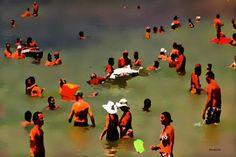 "Saatchi Art Artist ACQUA LUNA; Painting, ""32- Todos al agua."" #art"