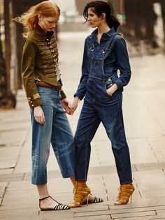 """Double Denim"" Anniek Kortleve and Amanda Moreno for S Moda April 2015- Gucci"