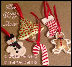 Homemade salt dough Christmas Ornaments DIY & Crafts Christmas crafts, ideas and DIY for decor, gifts and more #christmas follow TheDIYShow for Pinspirations #xmas_present #Black_Friday #Cyber_Monday