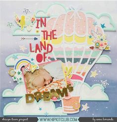 405 vind-ik-leuks, 2 reacties - Hip Kit Club Scrapbooking Kits (@hipkitclub) op Instagram: 'How beautiful is this dreamy cloudy layout created by designer @moriony using the #june2017…'