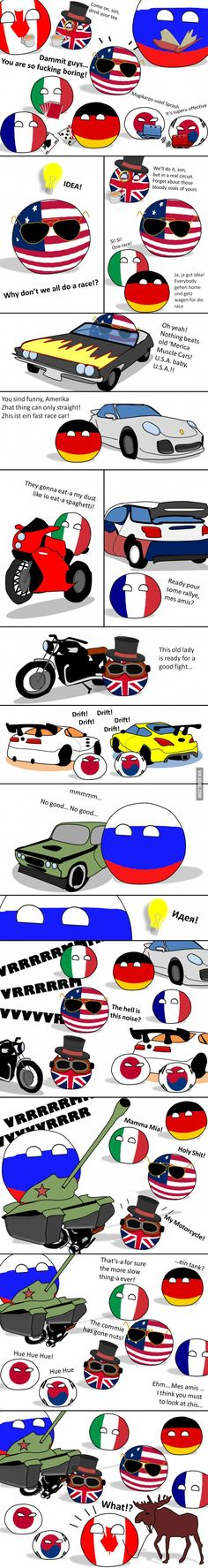 "Polandball - Countryball ""Bets are open. Who's gonna win?"" ( USA, UK, Germaney, Italy, France, Japan, South Korea, Russia, Canada )"