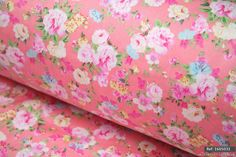 """Candy Rose Floral 100% cotton fabric sold by meter 63""""width [1605031] 