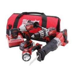 tools new milwaukee 48 11 1815 m18 18v 18 volt red lithium ion kits milwaukee milwaukee lithium power tool kits 4 tool 2692 24 lithium 18 volt 4 home tools tool combo
