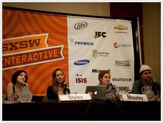 The Future of Lifestyle Media panel discussion at SXSW Interactive, with Grace Bonney, Camille Styles, Tolly Moseley, and Andrew Wagner