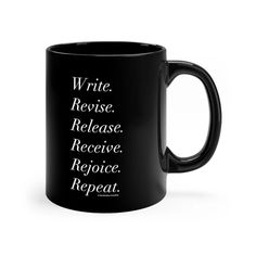 Six Words of Advice for Writers - Mug Six Words, Word Of Advice, Great Gifts, Mugs, Writers, Food, Tumblers, Essen, Meals