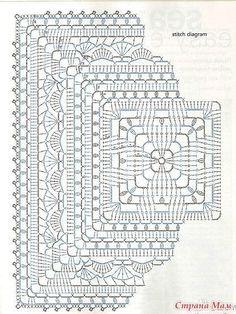 Transcendent Crochet a Solid Granny Square Ideas. Inconceivable Crochet a Solid Granny Square Ideas. Crochet Mandala Pattern, Crochet Square Patterns, Crochet Stitches Patterns, Crochet Chart, Crochet Squares, Thread Crochet, Stitch Patterns, Crochet Granny, Chrochet