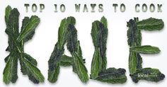 Kale is considered to be one of the Super Foods for those concerned with eating healthy, local grown diets. Top 10 Ways to Prepare Kale Kale Recipes, Vegetable Recipes, Whole Food Recipes, Cooking Recipes, Healthy Recipes, Cooking Kale, Fruit Recipes, Cooking Tips, How To Cook Kale