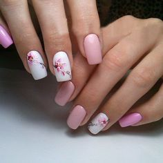 The Pink Bride Nails Can Enhance Love And Luck – Page 17 – Dazhimen Nail Art Designs, Acrylic Nail Designs, Acrylic Nails, Spring Nail Art, Spring Nails, Cute Nails, Pretty Nails, Magic Nails, Bridal Nail Art
