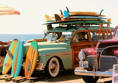Looks like when Bruce Brown and crew used to show up at the beach........