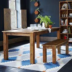 Reclaimed Wood Expandable Farm Table #westelm