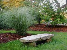 Natural stone garden bench rustic style garden design ideas - Another! Stone Garden Bench, Stone Bench, Garden Stones, Garden Benches, Garden Seating, Outdoor Retreat, Outdoor Decor, Outdoor Seating, Table Seating