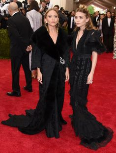 Mary Kate and Ashley Olsen Mary Kate and Ashley Olsen Photograph: Larry Busacca/Getty Images Met Ball 2015: celebrities arrive on the red carpet – in pictures